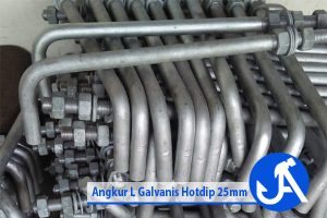 Angkur L Galvanis Hotdip 25mm
